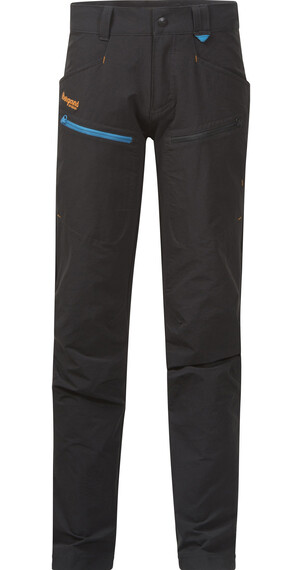 Bergans Youth Utne Pant Solid Charcoal/Br Sea Blue/Pumpkin